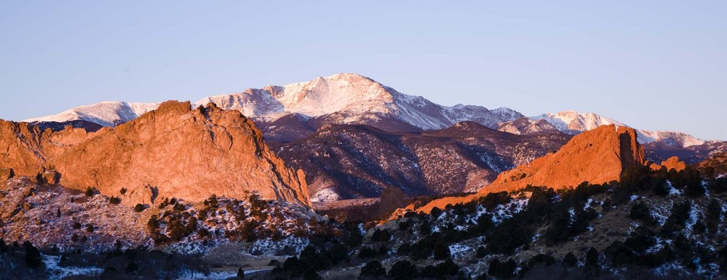 Pikes Peak as seen from Garden of the Gods Park, Colorado